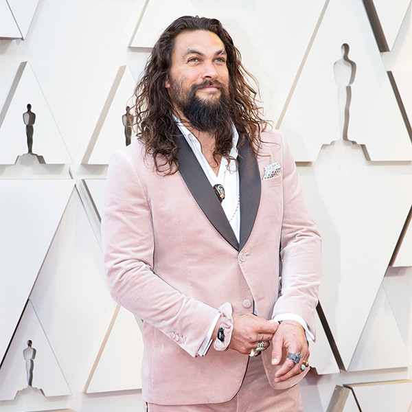 We Can't Get Enough of Jason Momoa's Oscars Scrunchie