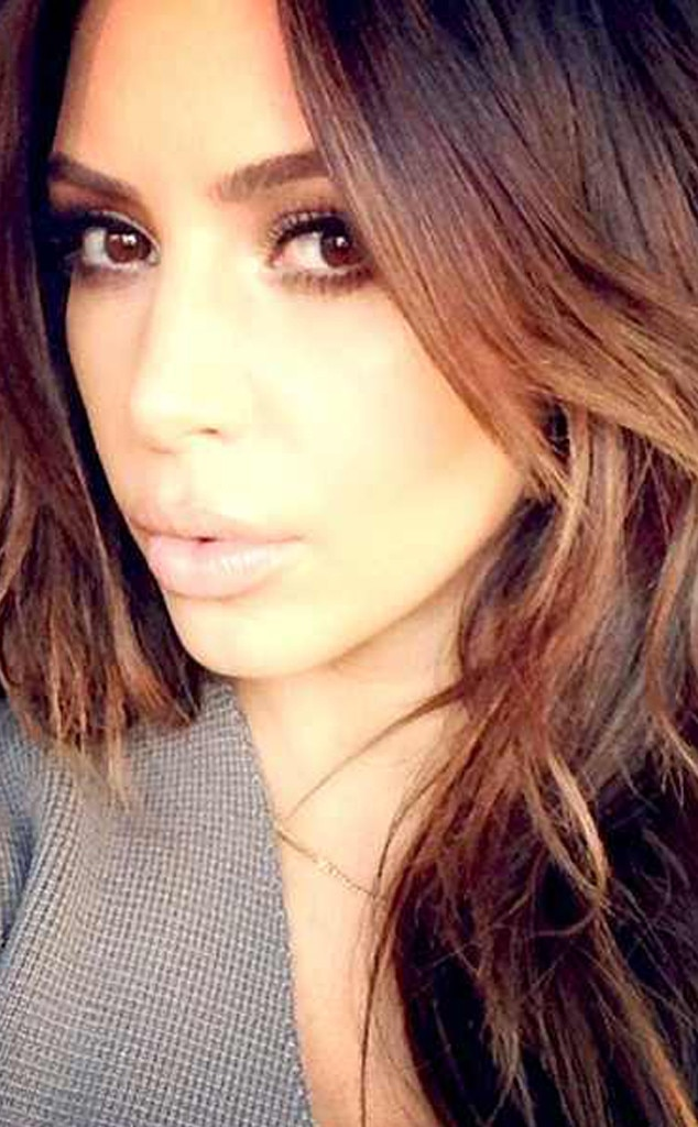 Light Brown Hair -  Kim dyed her hair a lighter shade of brown in 2014.