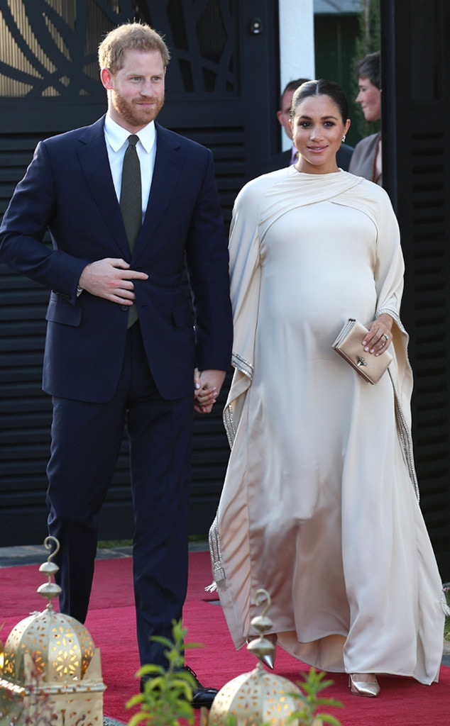 Meghan Markle, Prince Harry, Dior Dress, Morocco, Royal Baby