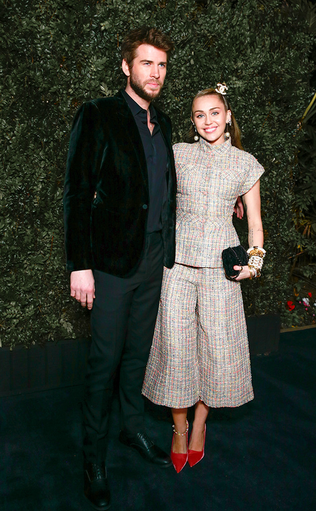 Miley Cyrus, Liam Hemsworth, Pre-Oscars 2019 Party