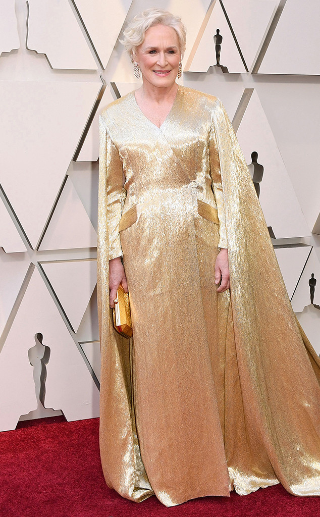 Glenn close talks becoming friends with lady gaga 39 s mom on the oscar red carpet e news - Oscars red carpet online ...