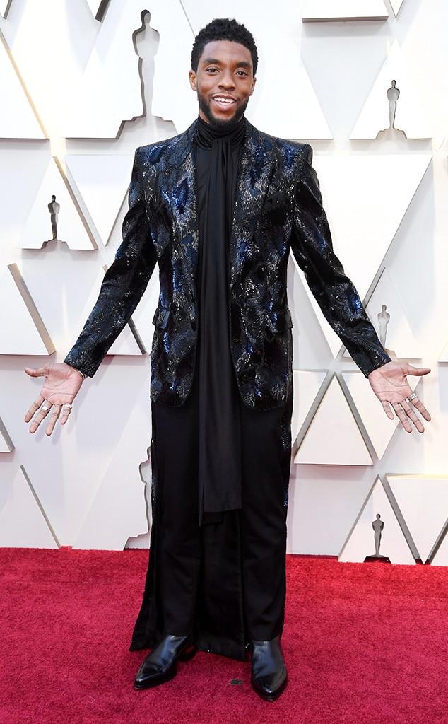 Chadwick Boseman, 2019 Oscars, 2019 Academy Awards, Red Carpet Fashions
