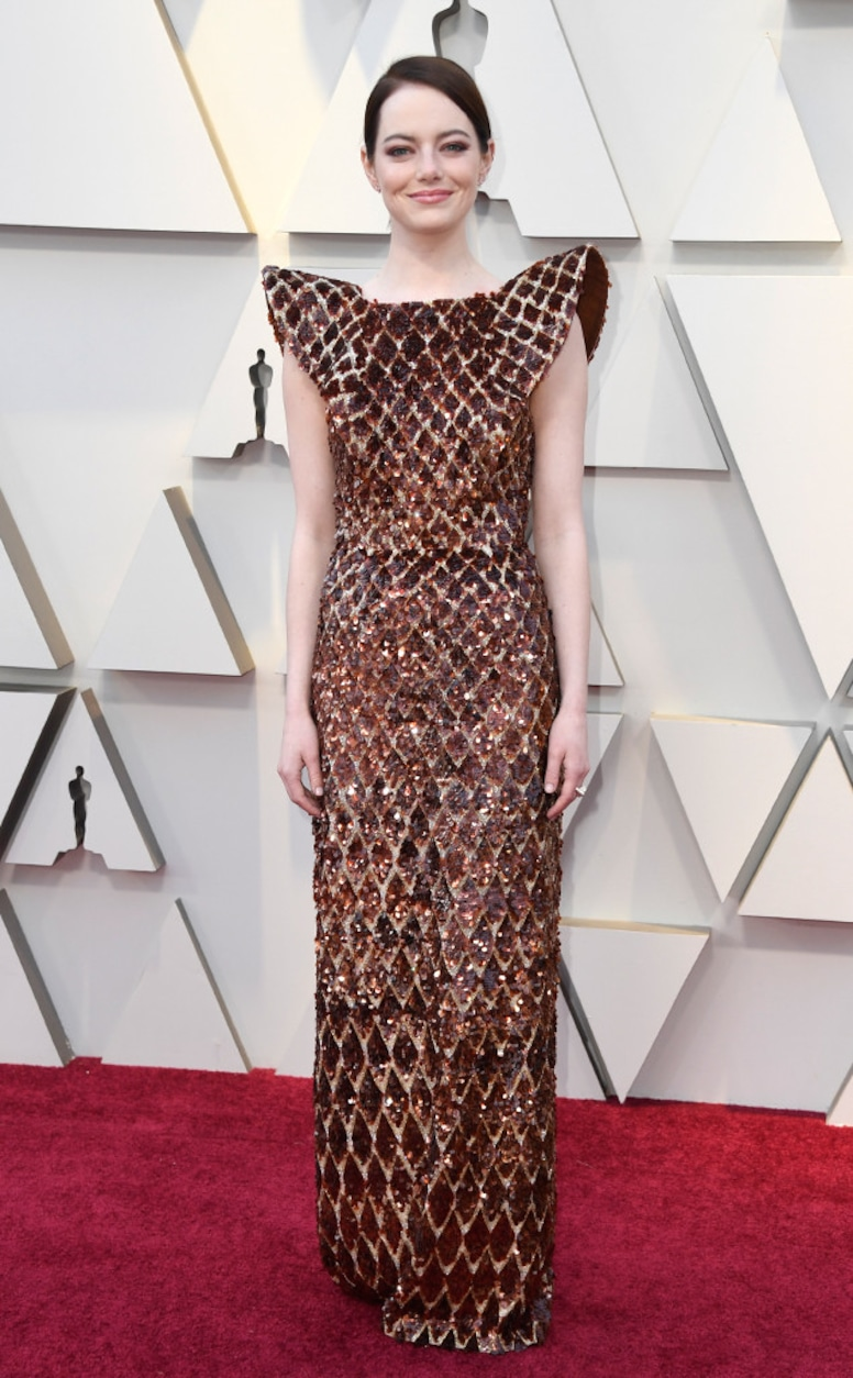 Emma Stone, 2019 Oscars, 2019 Academy Awards, Red Carpet Fashions