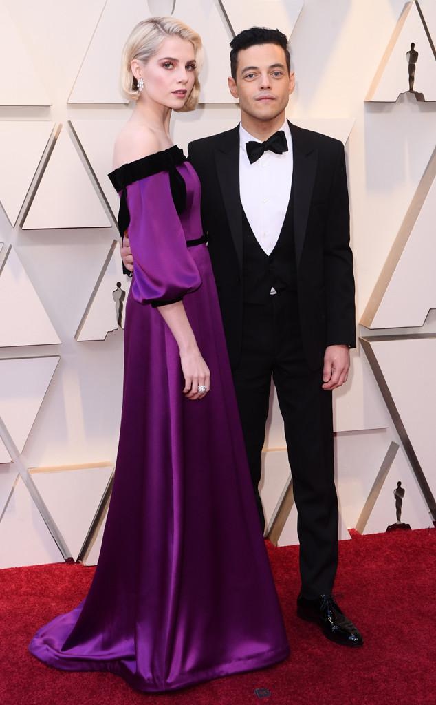 Lucy Boynton, Rami Malek, Couples, 2019 Oscars, 2019 Academy Awards