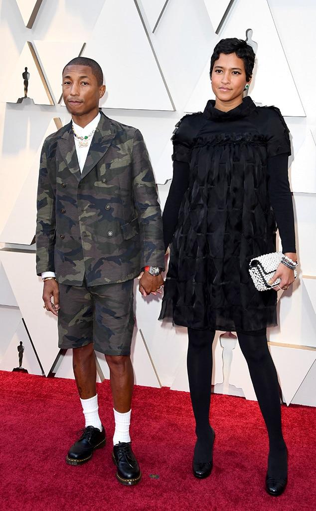 Pharrell Williams & Helen Lasichanh from 2019 Oscars: Red ...
