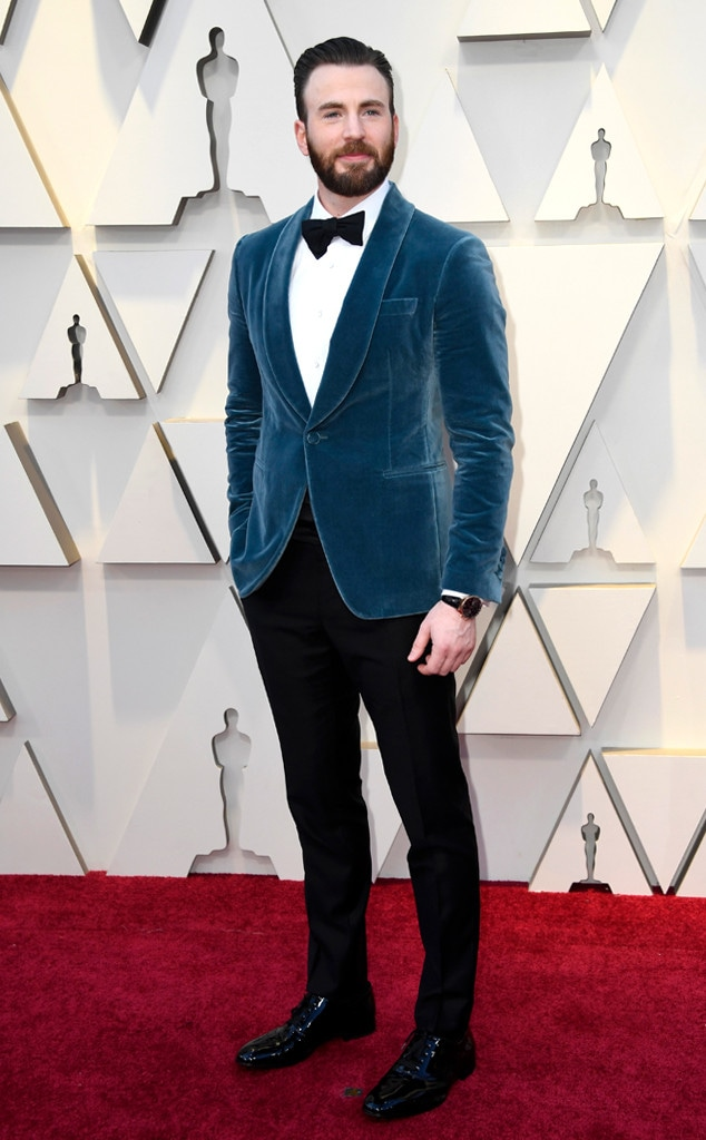 Chris Evans, 2019 Oscars, 2019 Academy Awards, Red Carpet Fashions