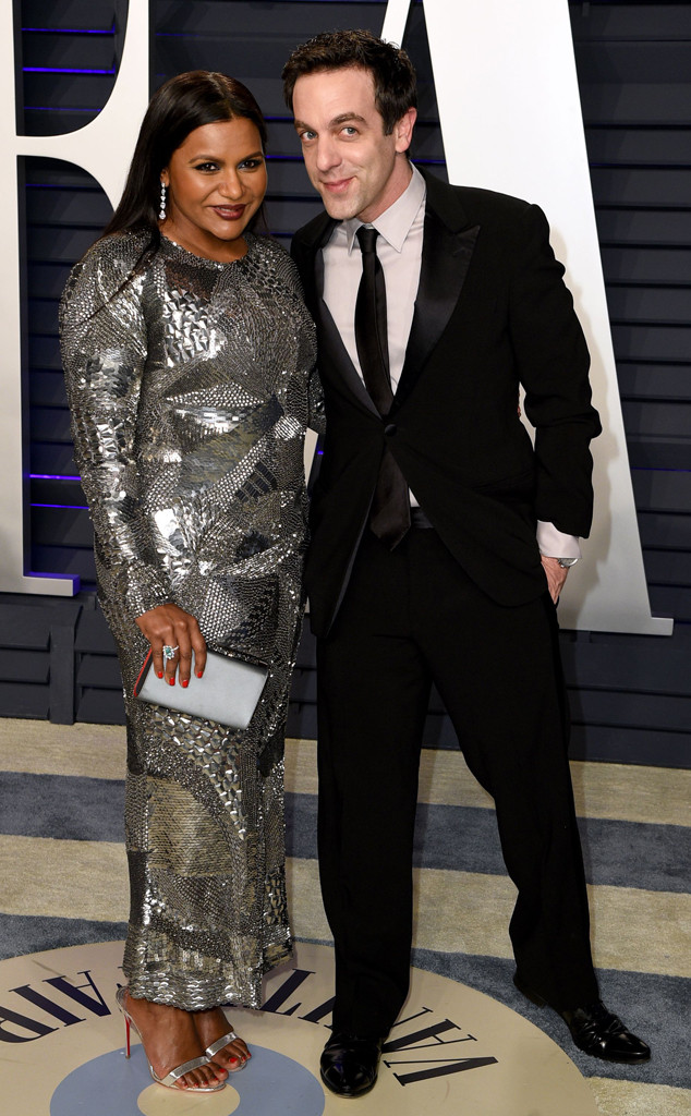 Mindy Kaling, BJ Novak, 2019 Vanity Fair Oscar Party, 2019 Oscars