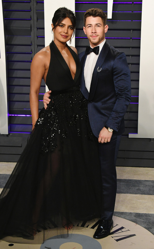 Nick Jonas, Priyanka Chopra, 2019 Vanity Fair Oscar Party, 2019 Oscars