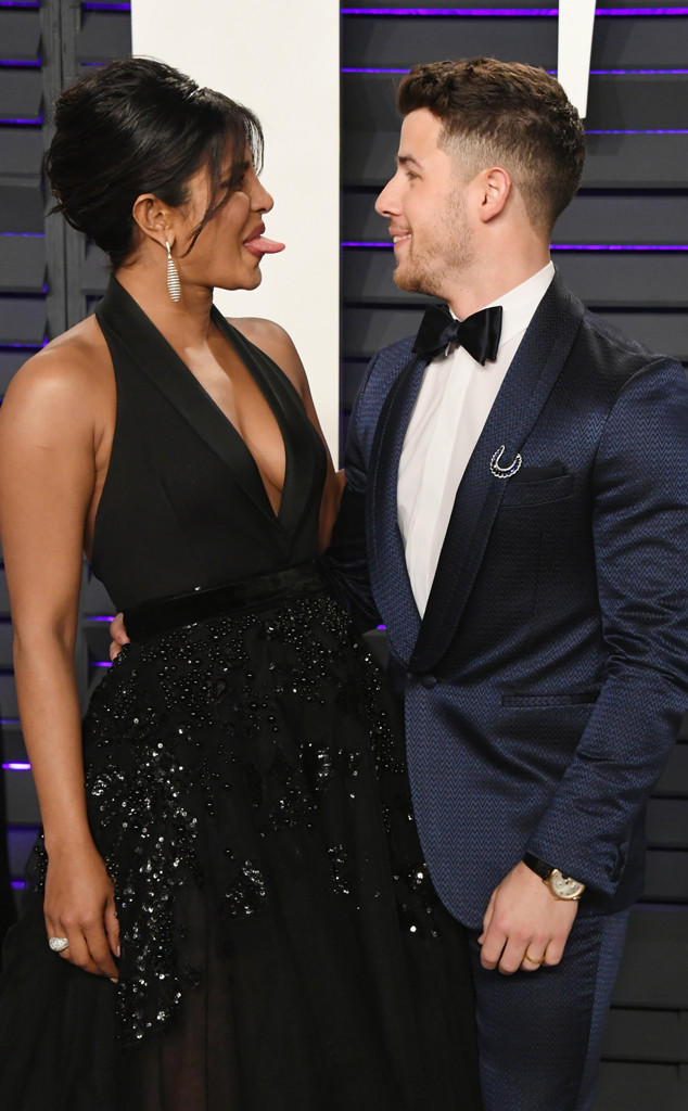 Nick Jonas, Priyanka Chopra, 2019 Vanity Fair Oscar Party, 2019 Oscars