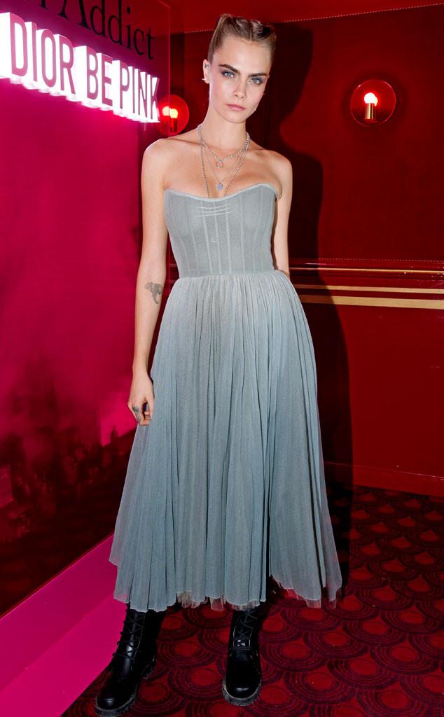 Cara Delevingne, Dior Addict Stellar Shine Party, Paris Fashion Week 2019