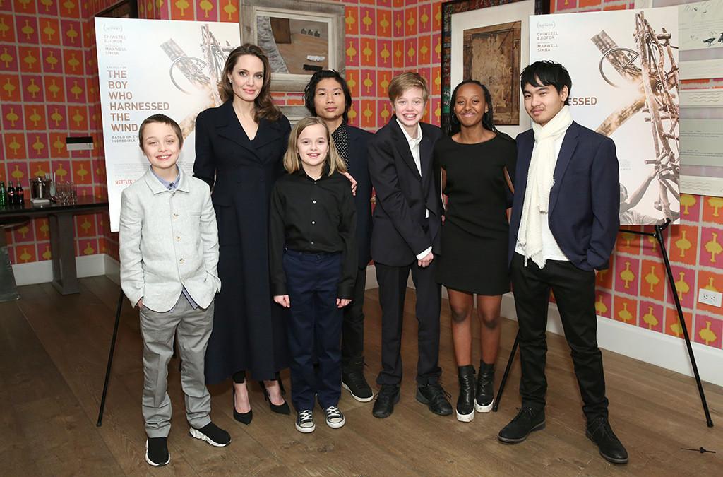 Angelina Jolie, Kids, Shiloh, Pax, Maddox, Zahara, Knox, Vivienne