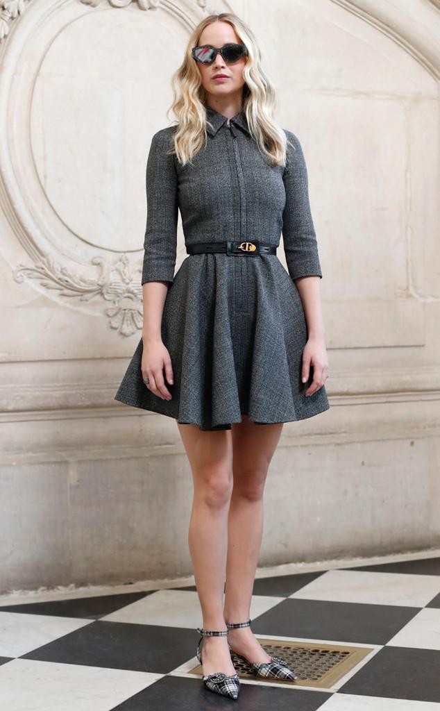 Jennifer Lawrence, Dior, Dior Arrivals, Paris Fashion Week 2019
