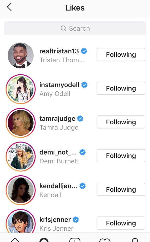 Tristan Thompson, Khloe Kardashian, Instagram