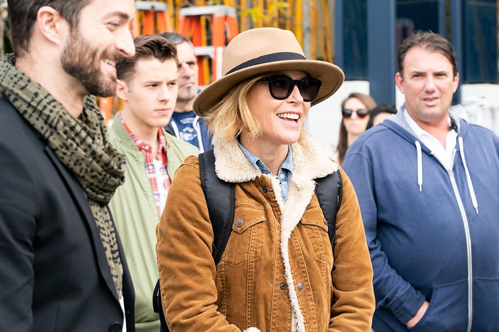 The Director on Set -  Julie Bowen behind the scenes.
