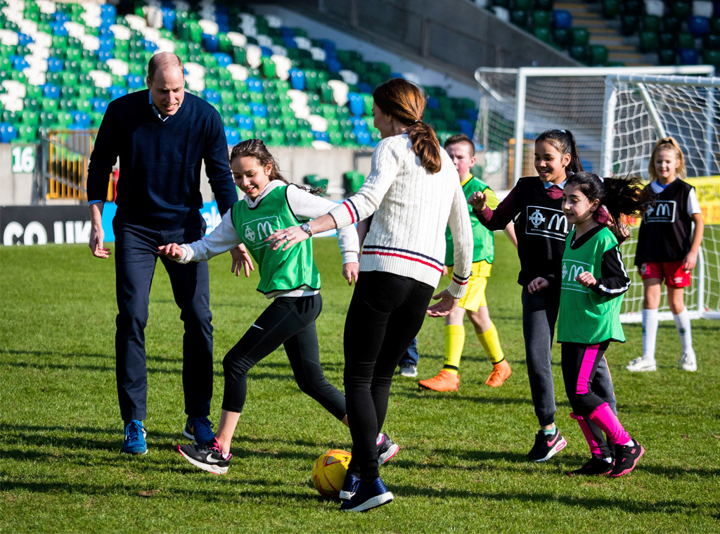 Prince William, Kate Middleton, Duchess of Cambridge, soccer, Northern Ireland
