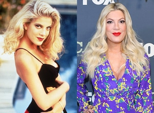 Tori Spelling, Beverly Hills, 90210, Then and Now