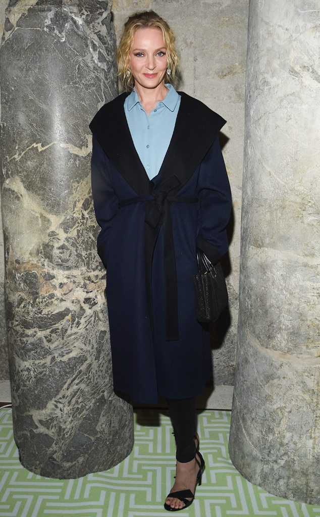 Uma Thurman -  Attended the Lanvin show on Feb. 27, 2019.