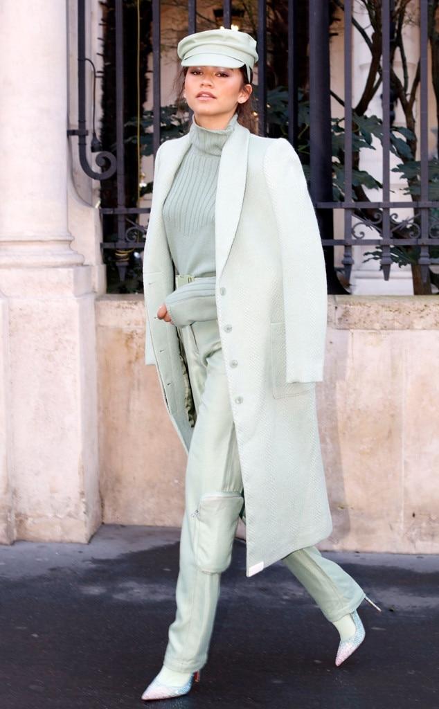 Zendaya, Celebs at Paris Fashion Week