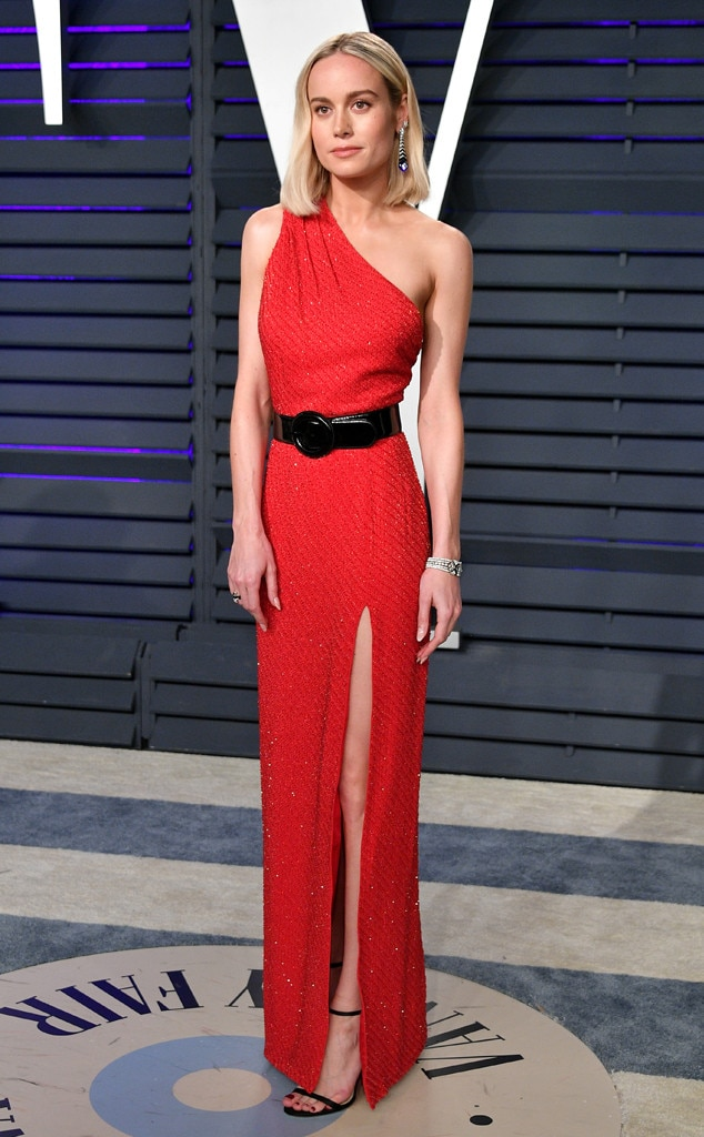 Red Hot -  After the show is the after party! While stepping out for the  Vanity Fair  Oscars Party, Brie wowed in aCeline dress, Jimmy Choo shoes and Chanel jewelry.