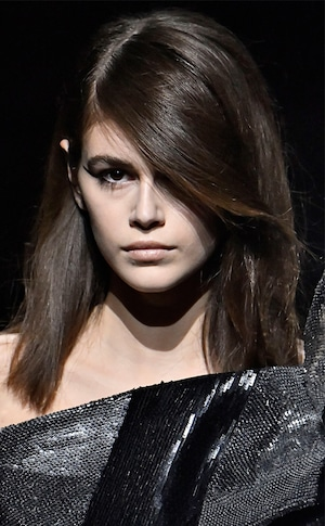 Saint Laurent, Best Beauty Looks at Fashion Week, Kaia Gerber