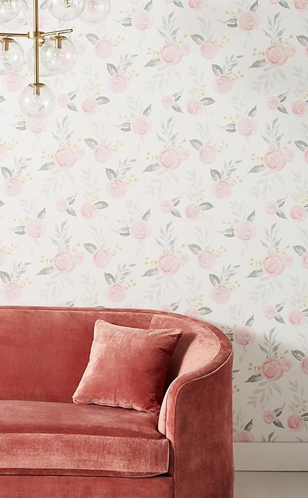 Magnolia Home Watercolor Roses Wallpaper from Shop Joanna ...