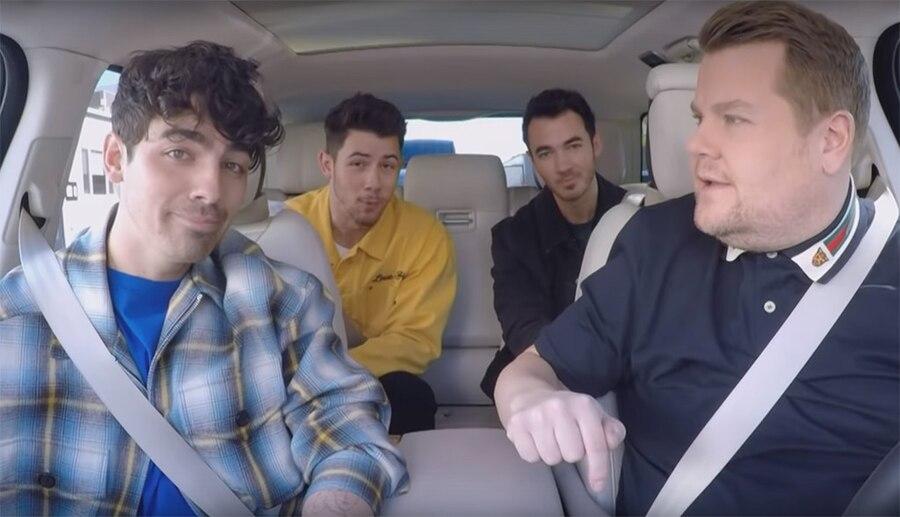 Jonas Brothers, Nick Jonas, Kevin Jonas, Joe Jonas, James Corden, Late Late Show, Carpool Karaoke