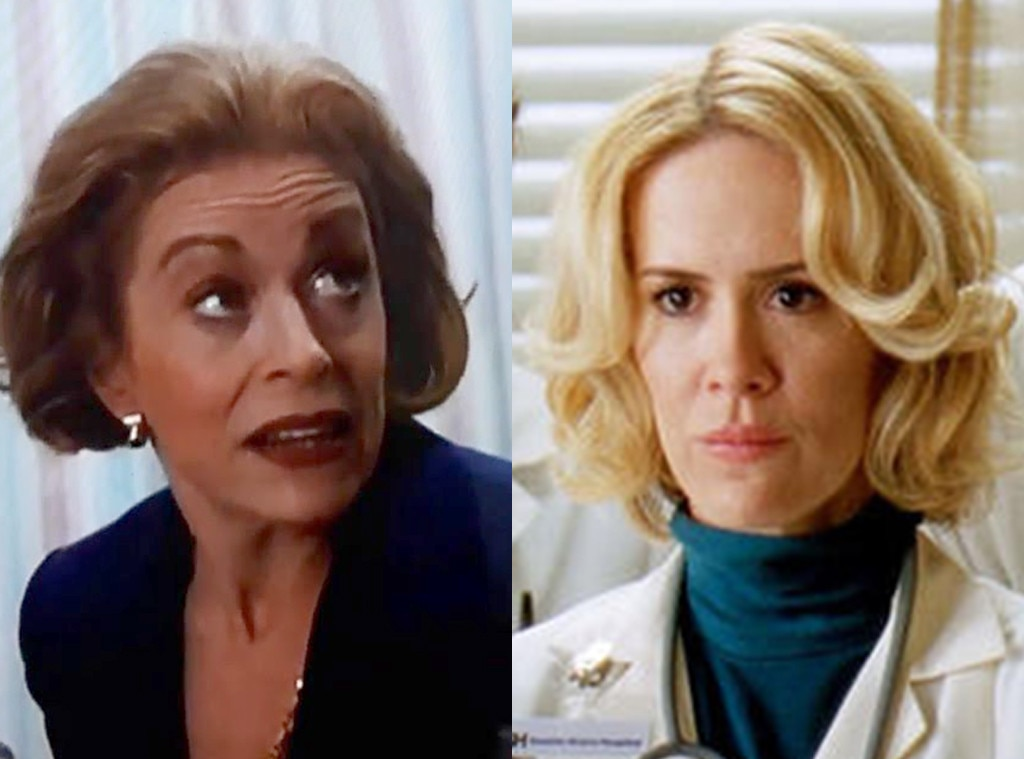 The Future Couple -  In 1999,  Holland Taylor  appeared in one episode of the NBC series as County General patient Phyllis Farr. Meanwhile, her future girlfriend  Sarah Paulson  popped up in the ABC series in 2010 as a far more important character—a young Ellis Grey, mother to  Ellen Pompeo 's Meredith Grey.