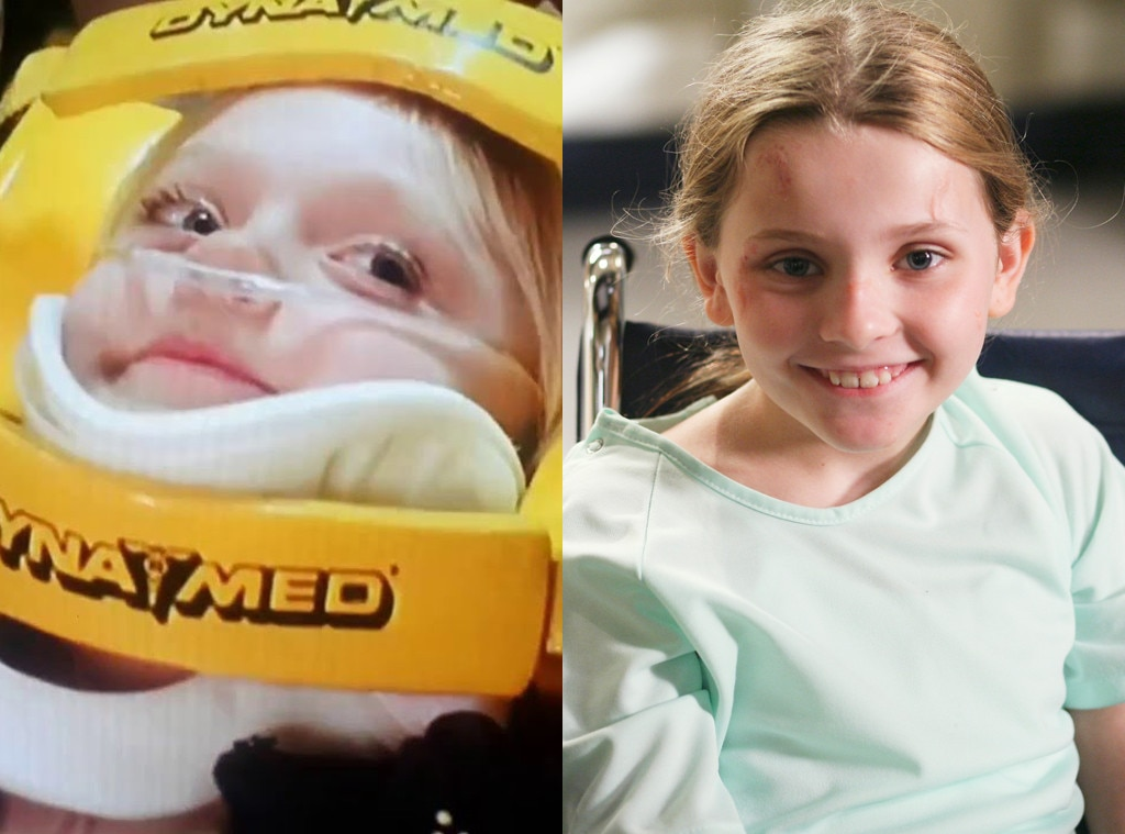 The Burgeoning Child Star -  Audiences got their first taste of future child star  Dakota Fanning  when she appeared in a 2000 episode of  ER , playing Delia Chadsey, a car crash victim suffering from leukemia. Grey's , meanwhile, gave us one of our earlier glimpses at the preternatural talents of  Abigail Breslin  when she appeared in a 2006 episode as Megan Clover, a young patient who can't feel pain.