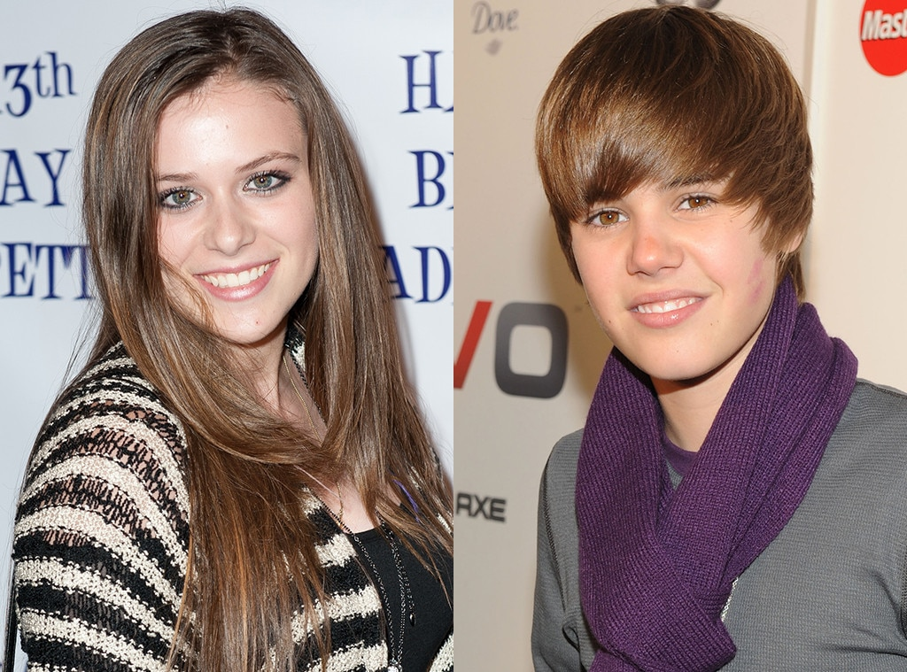 "First Girlfriend -  Back in 2008, Justin met his first girlfriend  Caitlin Beadles  when he moved to Atlanta to work with  Usher . They dated for about a year, with Caitlin reportedly ending things as Justin's fame was growing, and ""Never Let You Go"" off my  My World 2.0  is allegedly inspired by her."