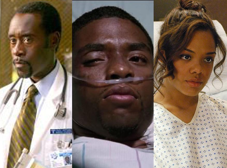 ER, Greys Anatomy, Guest Stars, Don Cheadle and Chadwick Boseman (ER)/Tessa Thompson (Grey's)