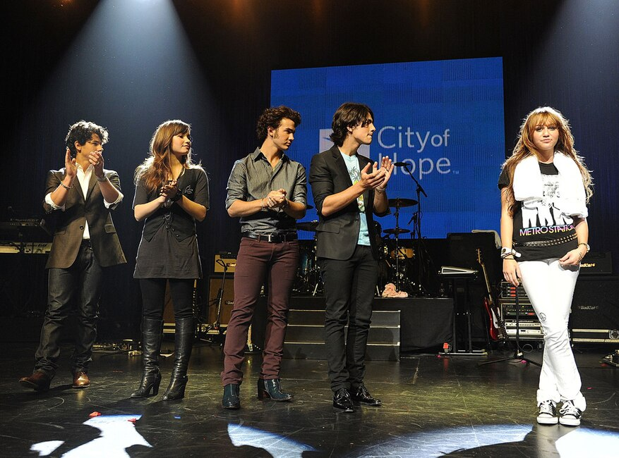 Jonas Brothers, Miley Cyrus, Demi Lovato, City of Hope Benefit Concert 2008