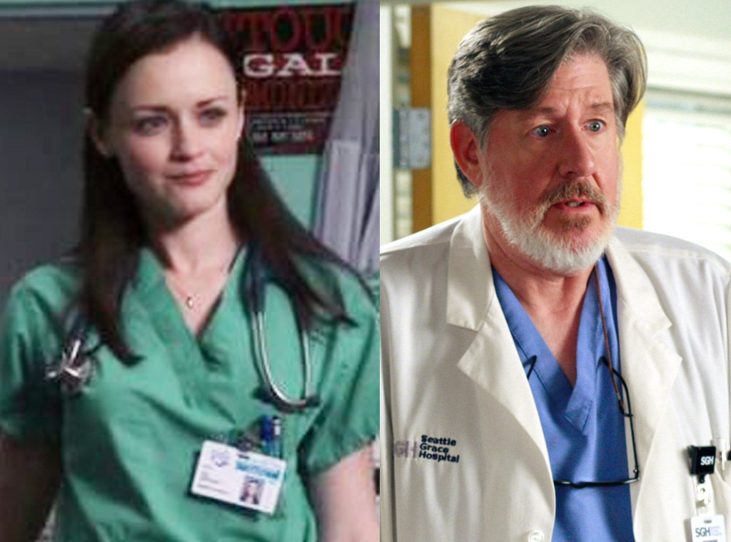 The Former  Gilmore Girls  Star -  Two years after her last regular episode as Rory Gilmore,  Alexis Bledel  returned to TV as Dr. Julia Wise in the NBC hit's very last episode ever. Meanwhile, her TV grandpa  Edward Hermann  showed up on the ABC soap in 2007 as surprisingly mature intern Norman Shales.