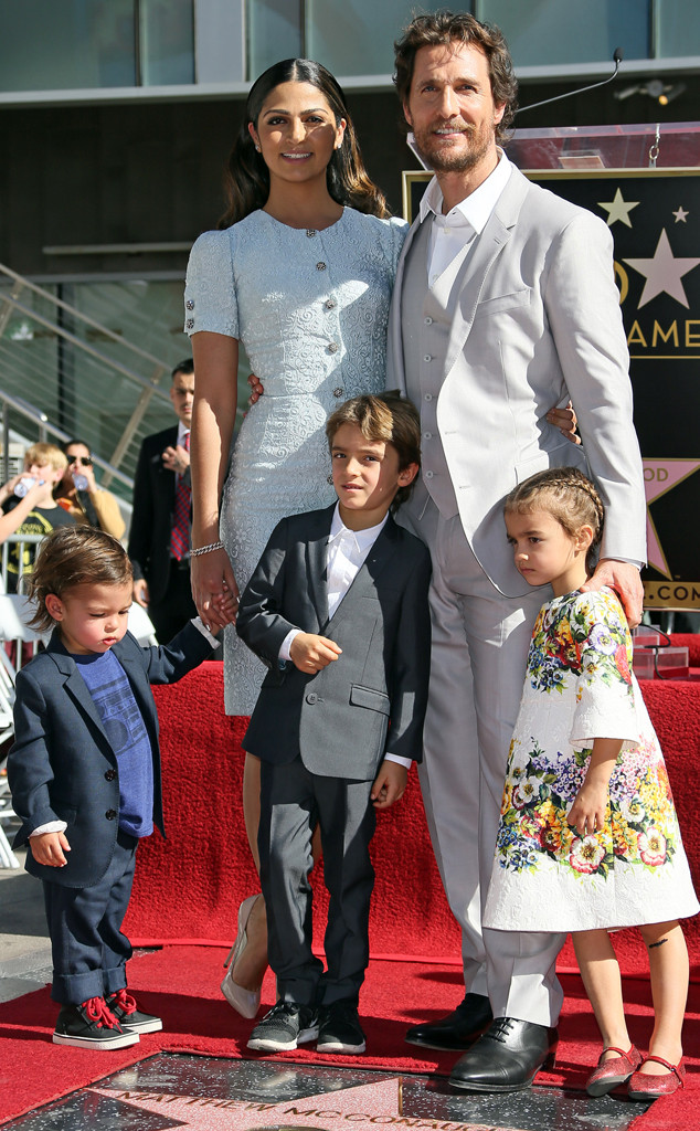 Matthew McConaughey, Camila Alves, Family, Hollywood Walk of Fame