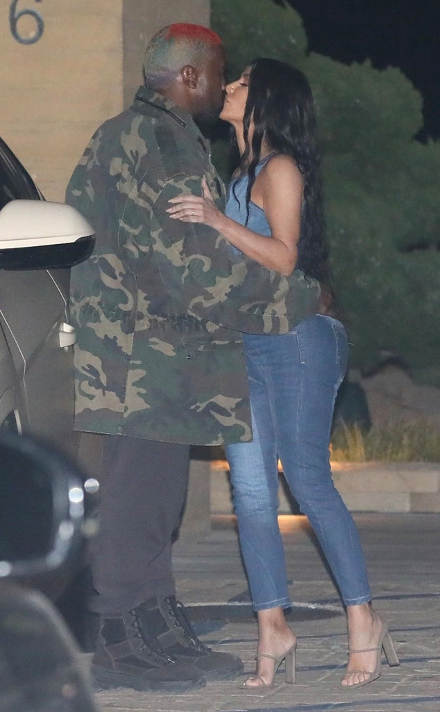 Kim Kardashian And Kanye West Pack On The Pda At Bff S