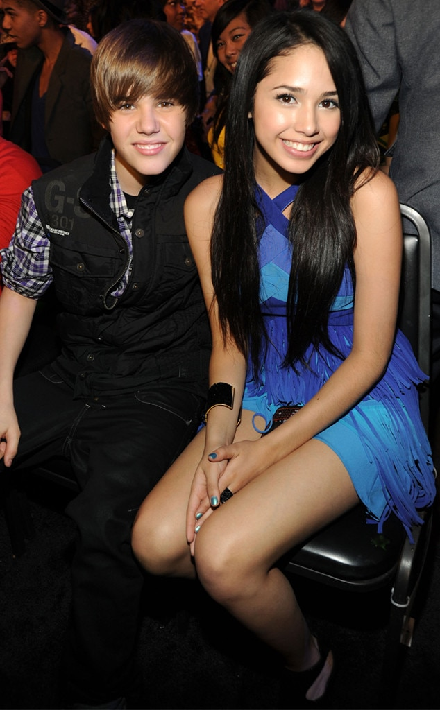 "Puppy Love -  Before his epic romance with Selena, Justin, then 15, dated  Jasmine Villegas , who was featured in his 2010 ""Baby"" music video (how they met!) and then was one of the opening acts on his  My World  tour. The pair dated for nine months (January-September 2010), with Jasmine  later saying , ""It was like a little kid thing, it was like puppy love, if you could even call it that.""  As for how they got together, Justin actually had to ask Jasmine's mom for her phone number."