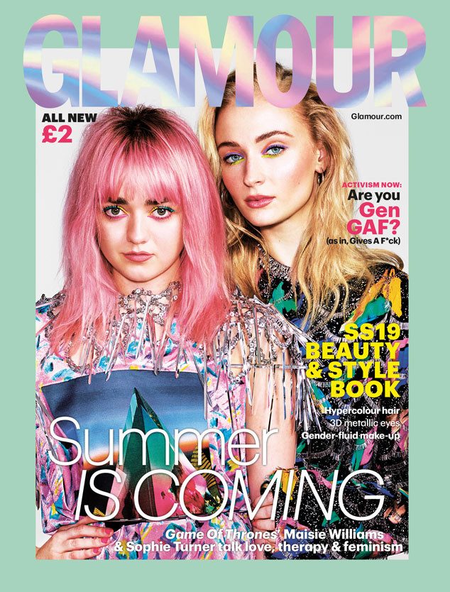 Maisie Williams, Sophie Turner, Glamour