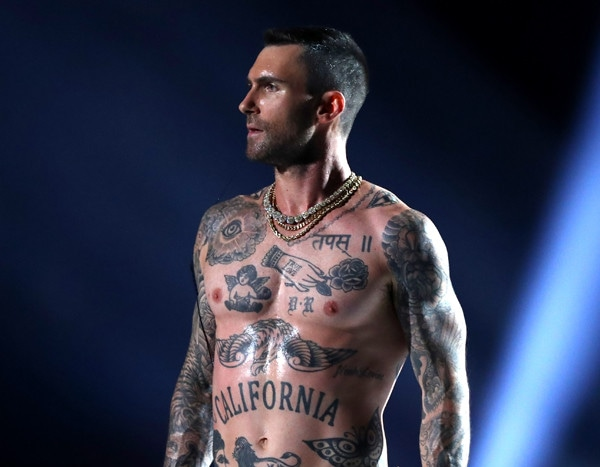 fe8d799449d Adam Levine s Nipples and Tank Top at the 2019 Super Bowl Raise Eyebrows