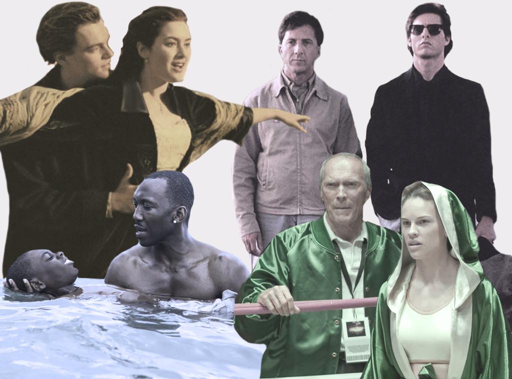 Best Picture Tournament Round 1, Moonlight, Million Dollar Baby, Titanic, Rain Man