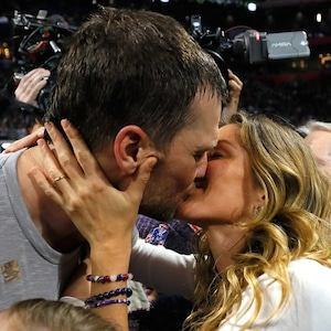 Tom Brady, Gisele Bündchen, Kiss, Super Bowl