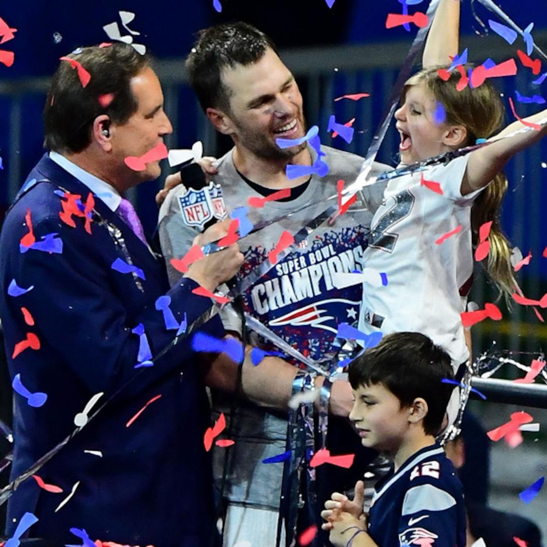 Tom Brady S Kids Gisele Bundchen Are His Biggest Super Bowl Fans E Online