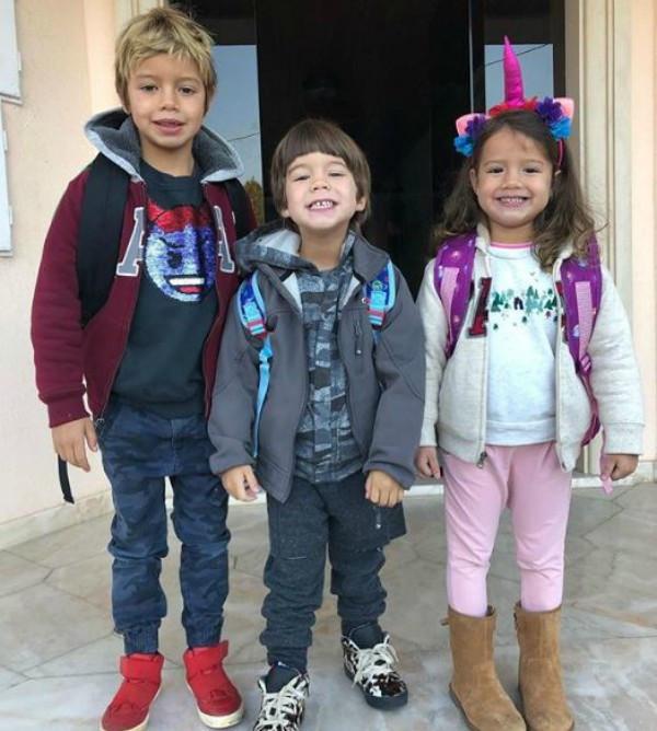 Dom, Ben, Liz, filhos Luana Piovani