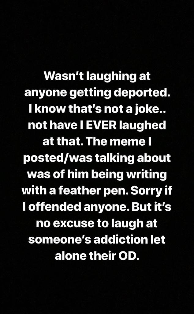 Demi Lovato, Instagram Story