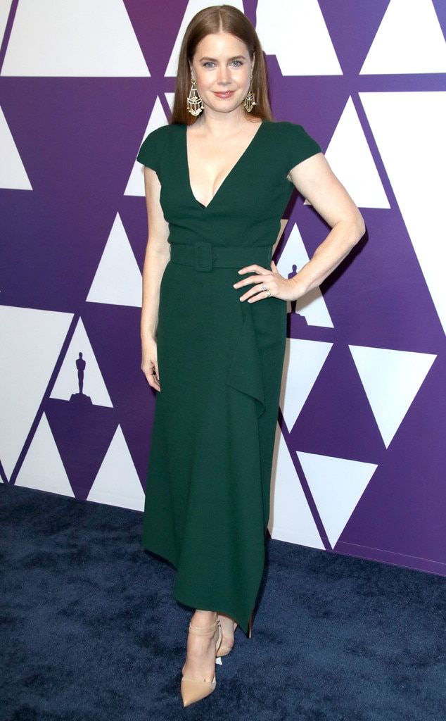 2019 Oscars Nominee Luncheon -  The married star was a vision in green when arriving to the celebration.
