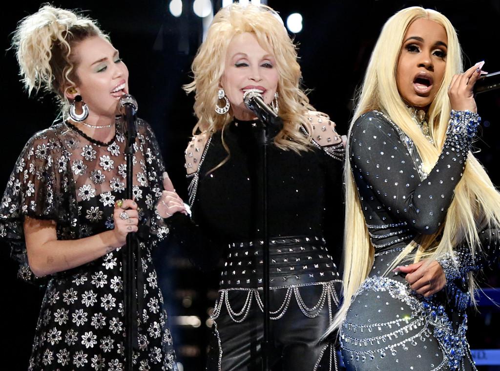 Miley Cyrus, Dolly Parton, Cardi B, Grammys