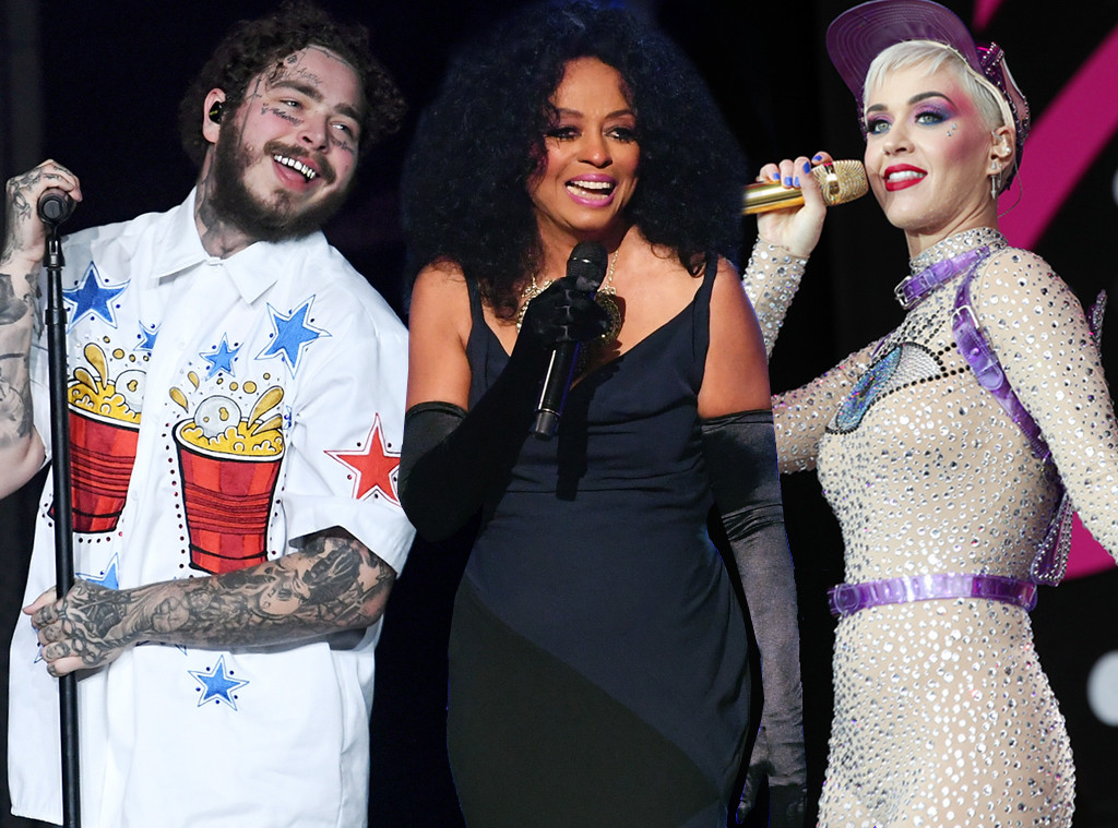 Post Malone, Diana Ross, Katy Perry, Grammys