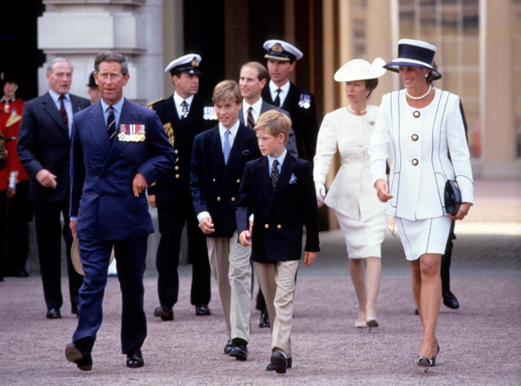 Princess Diana, Prince Edward, Prince Charles, Prince Andrew, Princess Anne