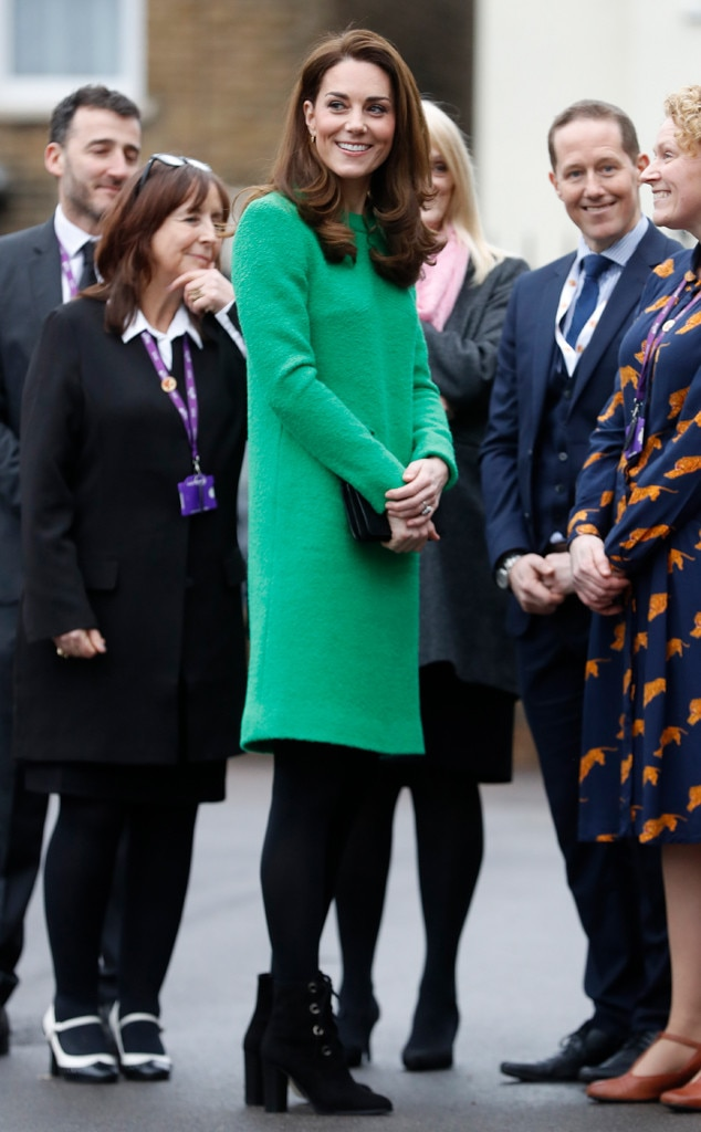 Going Green -  Kate turned heads in this Eponine London dress for Children's Mental Health Week.