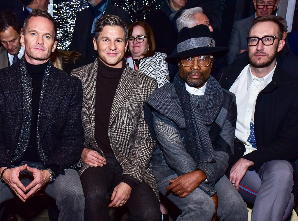 Neil Patrick Harris, David Burtka, Billy Porter & Adam Smith -  Attended the Joseph Abboud show on Feb. 4, 2019.