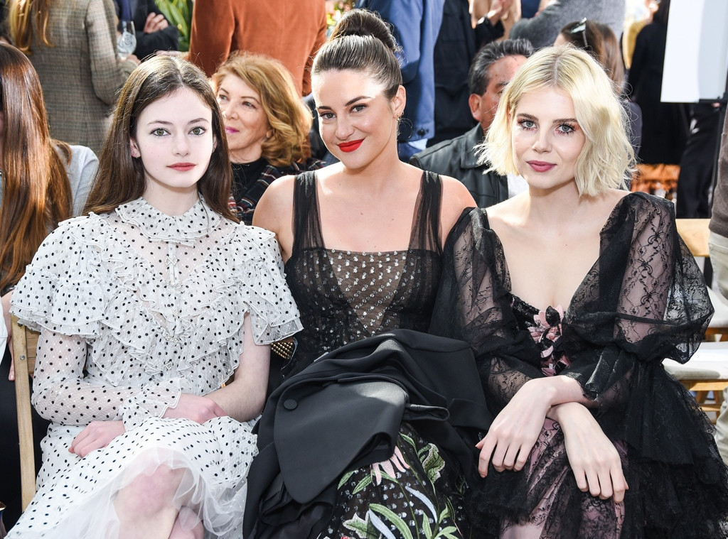 Mackenzie Foy, Shailene Woodley & Lucy Boynton -  Attended the Rodarte show on Feb. 5, 2019.