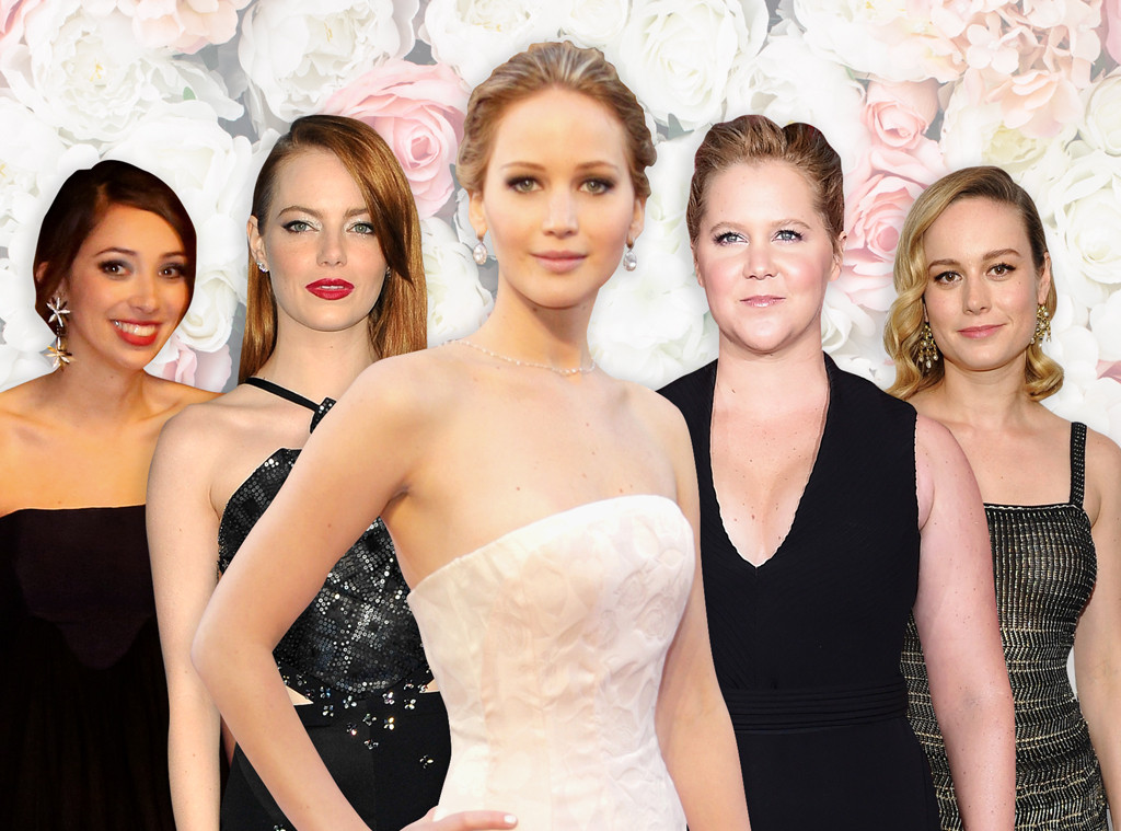 Jennifer Lawrence, Emma Stone, Laura Simpson, Brie Larson, Amy Schumer